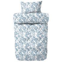 Engholm ´Ame´ flonel sengetøj 140x200 cm - Hvid/blå