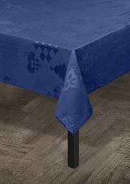 Juna ´Natale´ damaskdug 150x370 cm - Blå