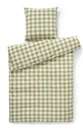 Compliments ´square´ sengetøj 140x200 cm- Grøn