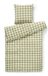 Compliments ´square´ sengetøj 140x220 cm- Grøn