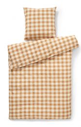 Compliments ´square´ sengetøj 140x200 cm- okker