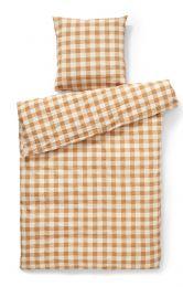 Compliments ´square´ sengetøj 140x220 cm - okker
