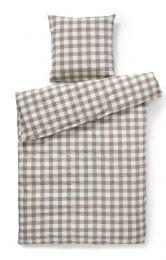 Compliments ´square´ sengetøj 140x200 cm - taupe