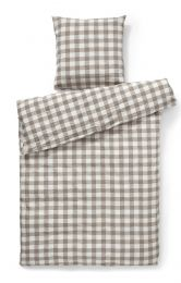 Compliments ´square´ sengetøj 140x220 cm - taupe