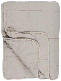 Ib Laursen quiltet sengetæppe 180x200 cm - Ash grey