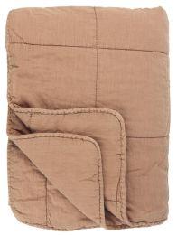Ib Laursen quiltet tæppe ensfarvet - Burn