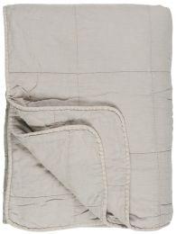 Ib Laursen quiltet tæppe/vattæppe - Ash Grey