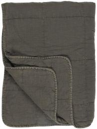 Ib Laursen quiltet tæppe/vattæppe - Thunder Grey