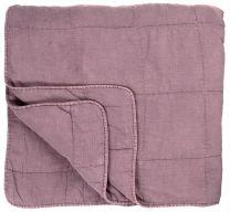 Ib Laursen quiltet sengetæppe ensfarvet - Malva
