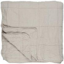 Ib Laursen quiltet sengetæppe 240x240 cm - Ash grey