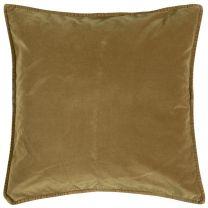 Ib Laursen pyntepude velour ensfarvet 52x52 cm - Clay