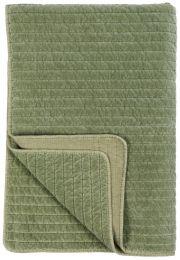 Ib Laursen velour quilt  - Oliven