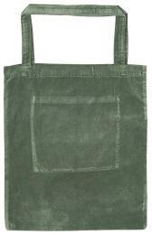 Ib Laursen velour taske m/indvendig lomme - Støvet grøn