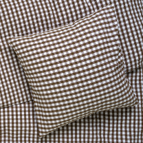 Juna Bæk og bølge sengetøj 140x200 cm - Chokolade/Hvid