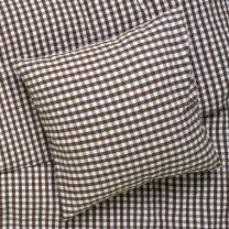 Juna Bæk og bølge sengetøj 140x220 cm - Chokolade/Hvid