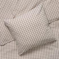 Juna Bæk og bølge sengetøj 140x200 cm - Grå/birk