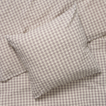 Juna Bæk og bølge sengetøj 140x220 cm - Grå/birk