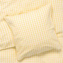 Juna Bæk og bølge sengetøj 140x200 cm - Gul/Hvid