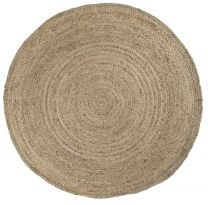 Ib Laursen gulvtæppe natur jute Ø220 cm