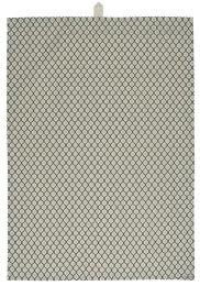 Ib Laursen viskestykke - M/grå snefnug og sort mønster