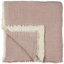 Ib Laursen sengetæppe - Dobbelt ribbet/Rød