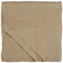 Ib Laursen sengetæppe dobbeltvævet 240x240 cm - Sand