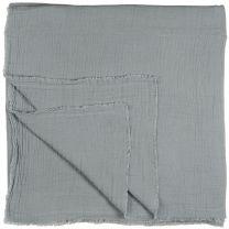 Ib Laursen sengetæppe dobbeltvævet 240x240 cm - Støvblå