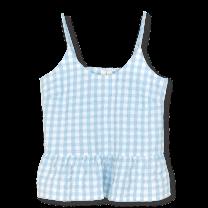Juna ´Bæk & bølge - Liv´ chemise top - Lysblå/hvid M/L