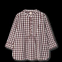 Juna ´Irene´ bluse XS - Chokolade/hvid