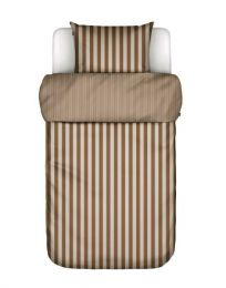 Marc O´Polo ´Classic stripe´ sengetøj 140x200 cm - Toffee brown