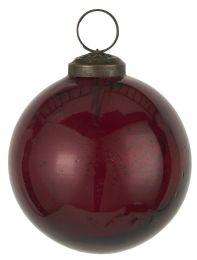 Ib laursen ´Stillenat´ julekugle 8,3 cm - Rhododendron glas/pebbled