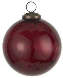 Ib Laursen ´Stillenat´ julekugle 10,5 cm - Rhododendron glas/pebbled