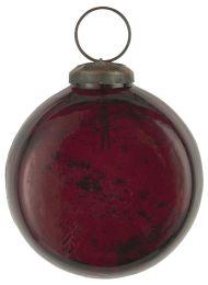 Ib Laursen ´Stillenat´ julekugle flad model - Rhododendron glas/pebbled