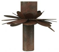 Ib Laursen lysindsats t/bedelys m/blomst - Rust
