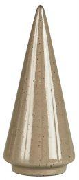 Ib Laursen juletræ stående rillet fra top til bund H9 cm - Sand