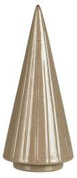 Ib Laursen juletræ stående rillet fra top til bund H15,5 cm - Sand