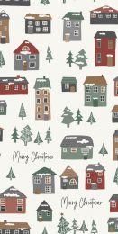 Ib Laursen servietter m/merry christmas og julehuse 16 stk.