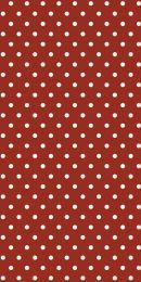 Ib Laursen servietter røde m/hvide prikker 16 stk.