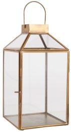 Ib Laursen ´Norr´ lanterne m/skrå glastop H 30,5 cm - Messing