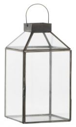 Ib Laursen ´Norr´ lanterne m/skrå glastop H 30,5 cm - Sort