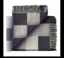 Silkeborg Uldspinderi ´Plain beat´ uld plaid 130x190 cm - Dark Grey notes