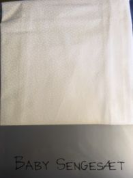 Nørgaard Madsen babysengetøj 70x100 cm - Råhvid m/små hvide blade