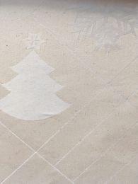 Juna ´Natale´ damaskdug 150x270 cm - Råhvid