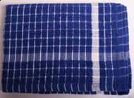 Frotté Viskestykke 45x70 cm - Blå/hvid