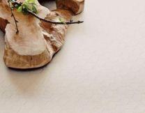 Juna ´Hexagon´ damask dug  140x220 cm - hvid
