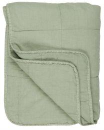 Ib Laursen quiltet tæppe ensfarvet - Lysegrøn