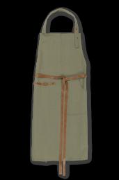 Juna ´Rå´ forklæde - Støvet grøn