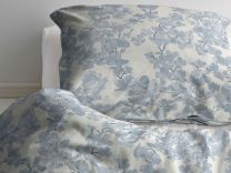 Södahl ´Blossom´ sengetøj 200x200 cm - Linen blue