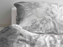 Södahl ´Foliage´ sengetøj til dobbeltdyne 200x200 cm - Grå