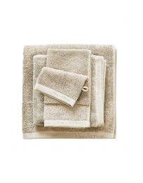MARC O`POLO ´Timeless uni´ ensfarvede håndklæder  50x100 cm - Oatmeal